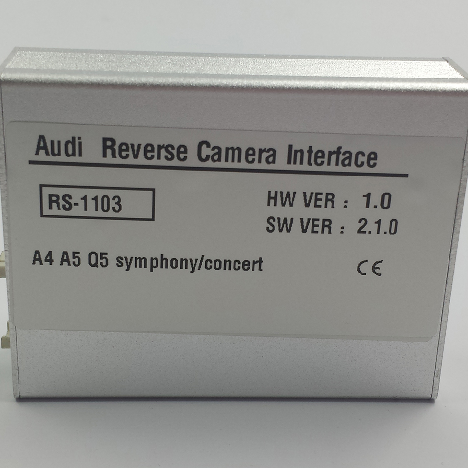 Plug and Play Car Reverse Camera Video Interface Kit For Audi Q5 2012 With Parking Guidelines in Vehicle Camera from Automobiles Motorcycles