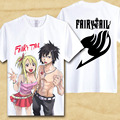 Classic Anime Fairy Tail Natsu Dragneel T-shirts/Lucy Heartphilia/Erza Scarlet Personajes 3D t shirt camiseta Para Hombre Casual camisetas