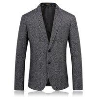 2018 autumn single breasted men's casual blazers Slim Fit Mens coats jacket classics business woolen blazer men size M 3XL