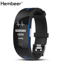 Hembeer P3 Smart Band ECG Monitor Blood Pressure Watch Real time Heart Rate Sport Fitness Tracker Smart Bracelet for IOS Android