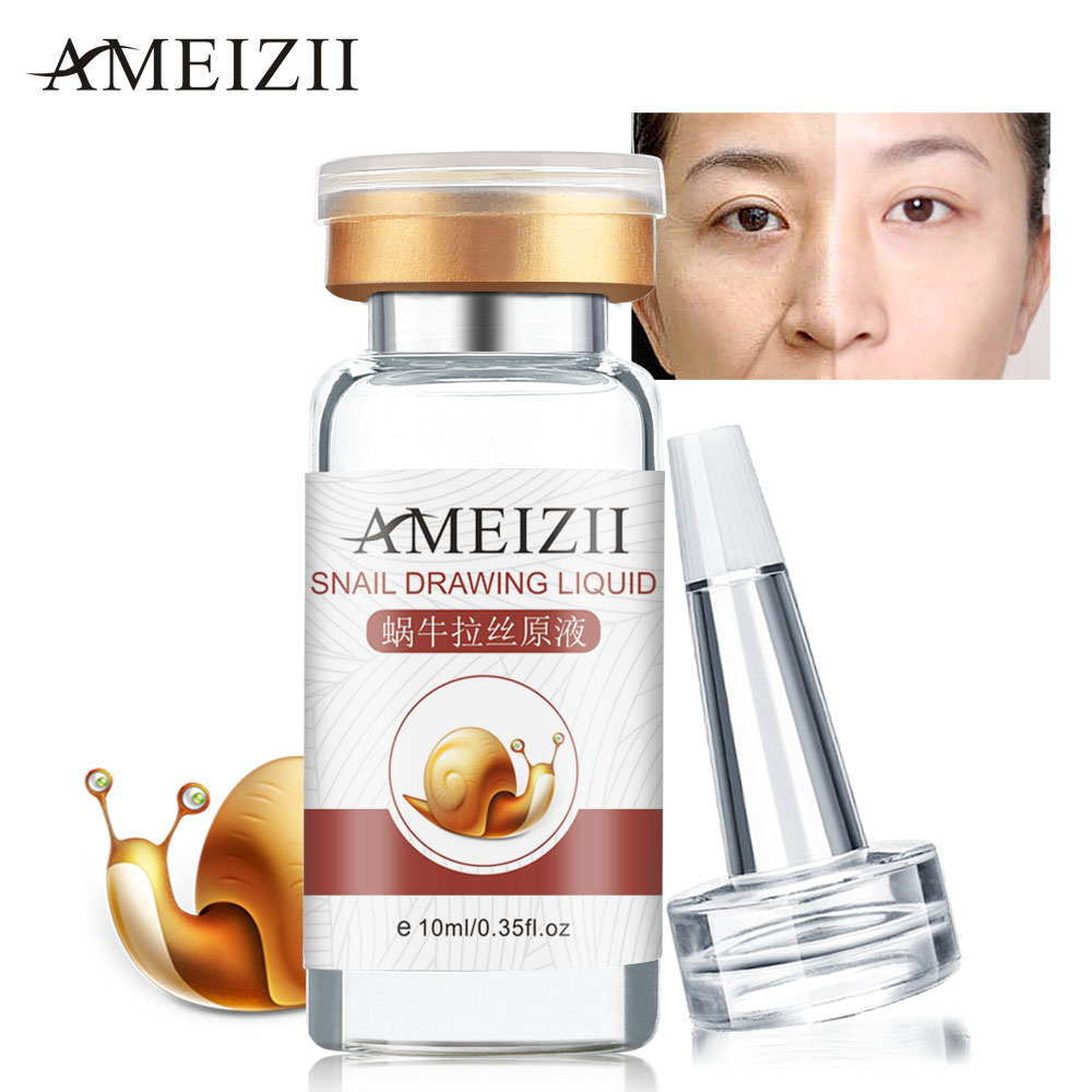 AMEIZII Snail Essence Hyaluronic Acid Serum Moisturizing Whitening Lifting Firming Essence Anti-Aging Face Skin Care Repair 1PcsAMEIZII Snail Essence Hyaluronic Acid Serum Moisturizing Whitening Lifting Firming Essence Anti-Aging Face Skin Care Repair 1Pcs