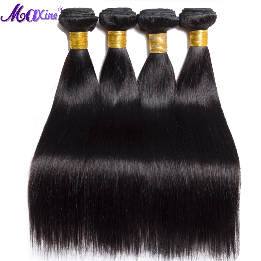 Maxine 4 Bundles Brazilian Straight Hair Natural Color 100 Human Hair Non Remy Hair Weave Bundle