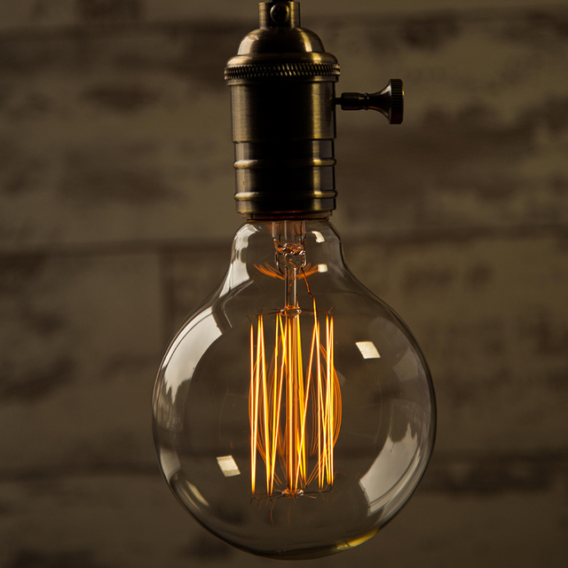 antiguo vintage KARWEN Edison bombilla lampada retro incandescente de 40 w ampolla lámpara E27 220 V para la decoración de filamento de bombilla luces