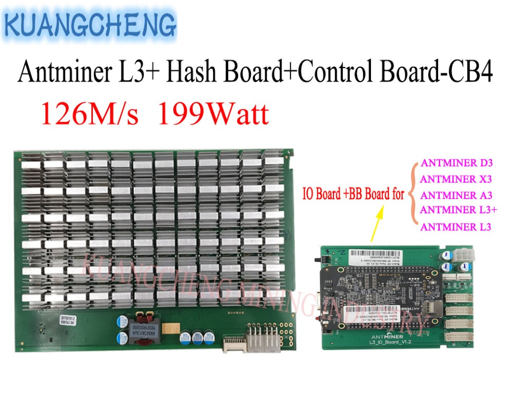 AntminerL3 + хэш доска + Управление Совета включают в себя IO доски и BB доска для ANTMINER D3/A3/L3/L3 +/X3 форме KUANGCHENG добыча