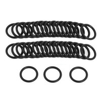 50pcs 115mm OD X 2 4mm Thickness Industrial Rubber O Ring Seals Black