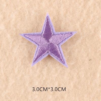 1 шт. смешанные нашивки со звездами для одежды, железная вышитая аппликация, милая нашивка эмблема на ткани, одежда, аксессуары для одежды DIY 61 - Цвет: 61A