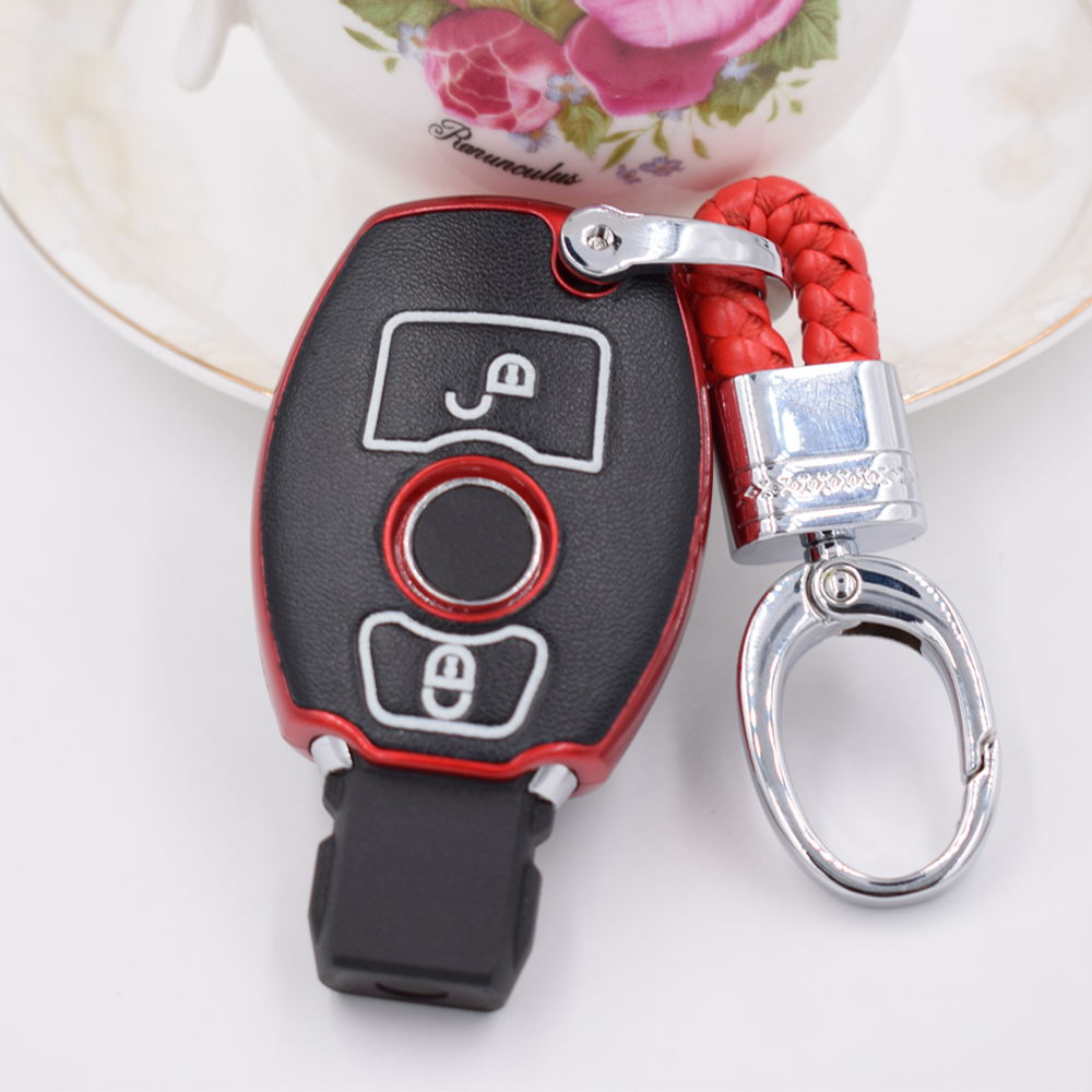 Remote Smart car key shell cover 2/3 Buttons key case set wallet For Mercedes Benz W203 W204 W212 CLK C180 E200 AMG C E S Class