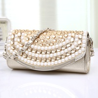 Vrouwen Diamonds Handtas Kleine Avond Hand Tas Parel Mode Keten Schoudertas Dames Pretty Tote Luxe Messenger Crossbody Bag