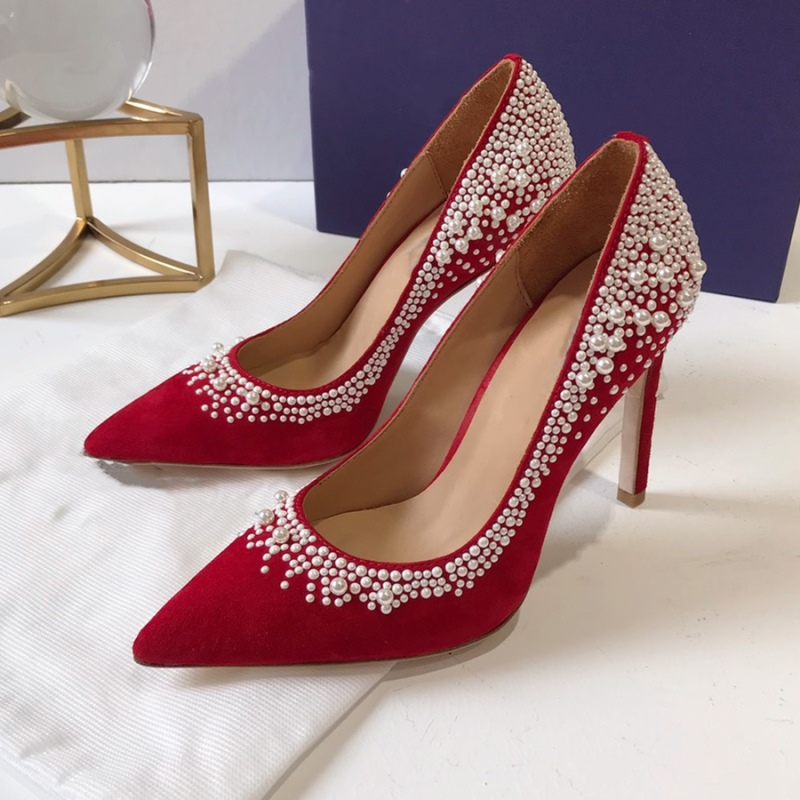 Women Pumps 2019 Fashion Kid Suede Pearls High Heels Ladies Party Wedding Shoes Pointed Toe All season Thin Heels Female SandalsWomen Pumps 2019 Fashion Kid Suede Pearls High Heels Ladies Party Wedding Shoes Pointed Toe All season Thin Heels Female Sandals