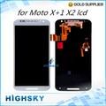 5 pçs/lote DHL EMS frete grátis digitador touch com display lcd para Motorola MOTO X + 1 X 2 XT1092 XT1095 XT1096 XT1097
