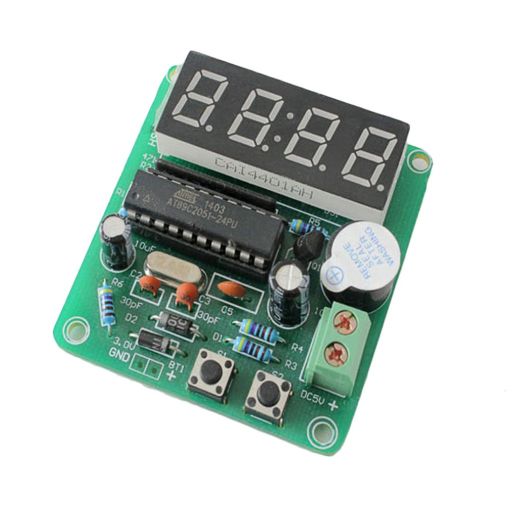1Pc C51 4 Bits Digital Electronic Clock YSZ-4 3V-6V C51 4 Bits Digital Electronic Clock Electronic Production Suite DIY Kit DIY