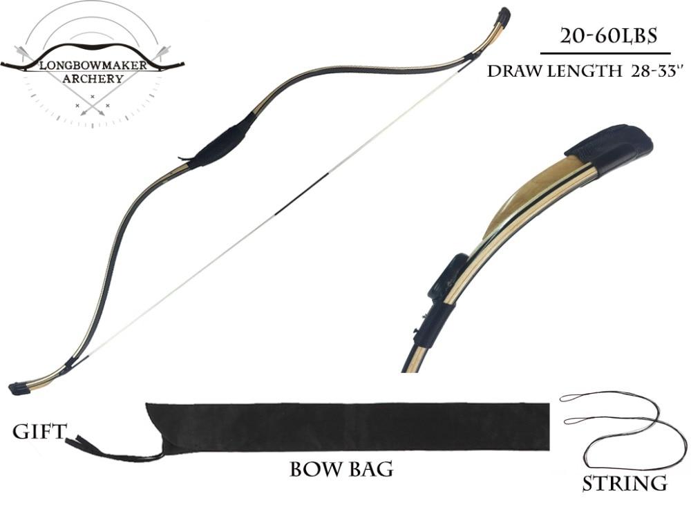 Longbowmaker Black Shadow Korean Style Korean Bow 15-60Lbs Maple Laminated Longbow HorseBow longbowmaker black shadow korean style korean bow 15 60lbs maple laminated longbow horsebow