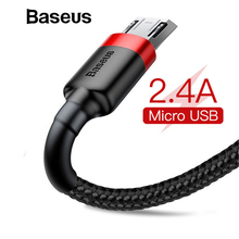 Baseus 2.4A Micro USB Cable Fast Charge USB Data Cable Nylon Sync Cord for Samsung Xiaomi Redmi Note 4 5 Android Microusb Cable