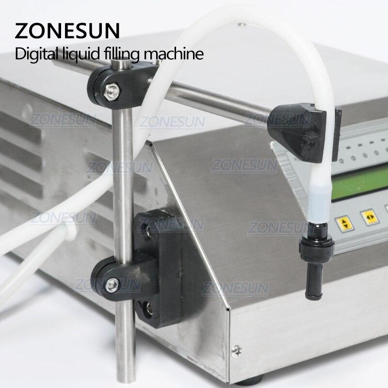 ZONESUN 5-3500 ml Machine de remplissage liquide de boisson molle d'eau contrôle numérique GFK160 eau huile parfum lait petite bouteille de remplissage - 3