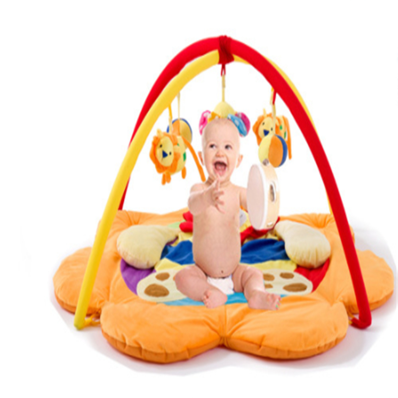 Baby Crawling Play Mat Thickeness 90x90CM Padded Cotton Play Blanket Fitness Frame Cute Toys Game Pads for Infants Home Portable