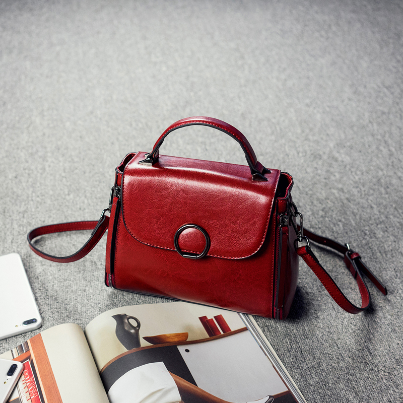 100 Genuine Leather Handbags 2019 New Arrival Cowhide Women Messenger Bags Leather Bag Female Cross body
