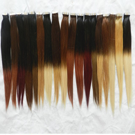 Indian remy ombre tape in human hair extensions balayage color indian remy ombre tape in human hair extensions balayage color adhesive strong tape hair extension pmusecretfo Gallery