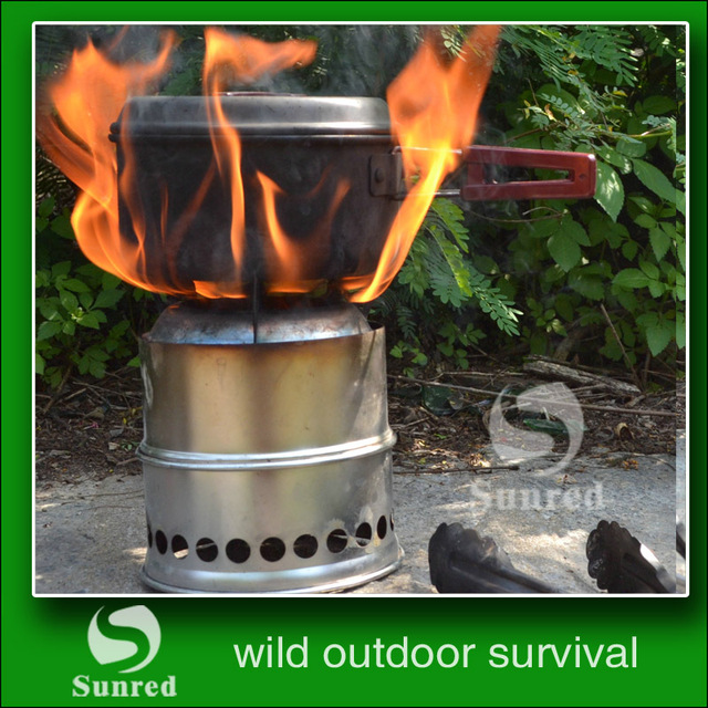 SRDWOS    stainless steel  portable  multi fuel   outdoor woo d gas  burning  picnic  stove