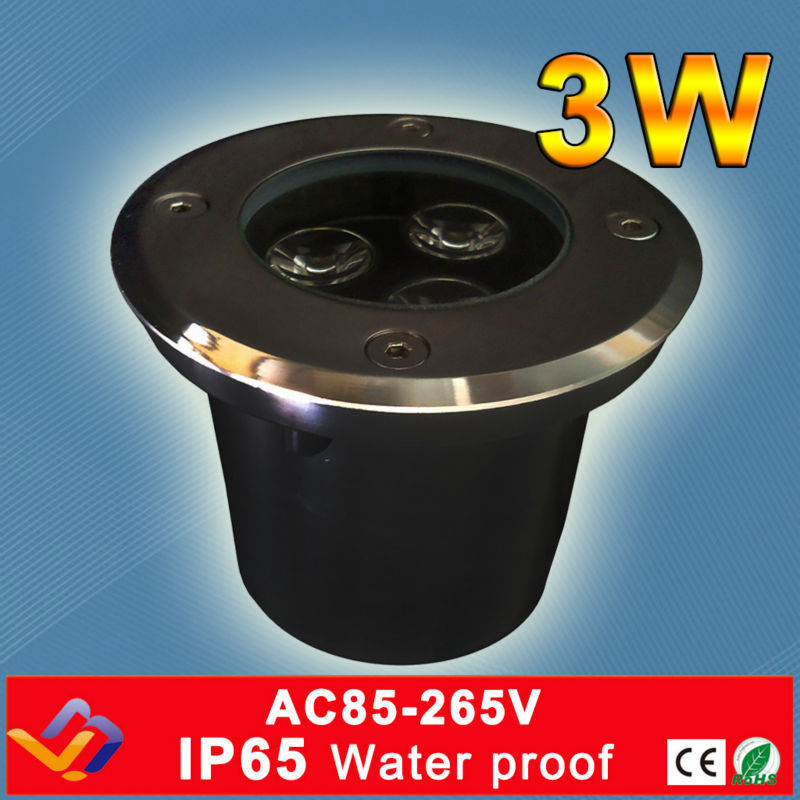 3*1W Hole Size D80MM*H70MM  LED Underground Light IP65  Buried Recessed  Floor Outdoor Lamp  AC85-265V3*1W Hole Size D80MM*H70MM  LED Underground Light IP65  Buried Recessed  Floor Outdoor Lamp  AC85-265V