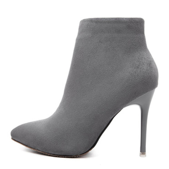 Online Shop HAIYUELI Autumn Winter Women Ankle Boots Concise Solid ... a99aee58fd3d