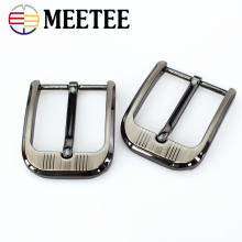 Meetee 2pcs 40mm Metal Cowboy Belt Buckle for Mens Womens Leather Jeans Head Accessories Fit 3.8-3.9cm Wideth ZK896
