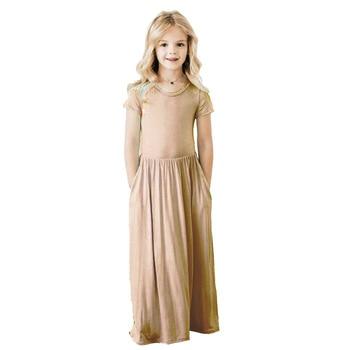 Maxi Girls Summer Dresses Beach Elegant Kids Clothes Unicorn Dress Toddler Autumn 2018 Baby Girls Dress Long Bohemian Vestidos 1