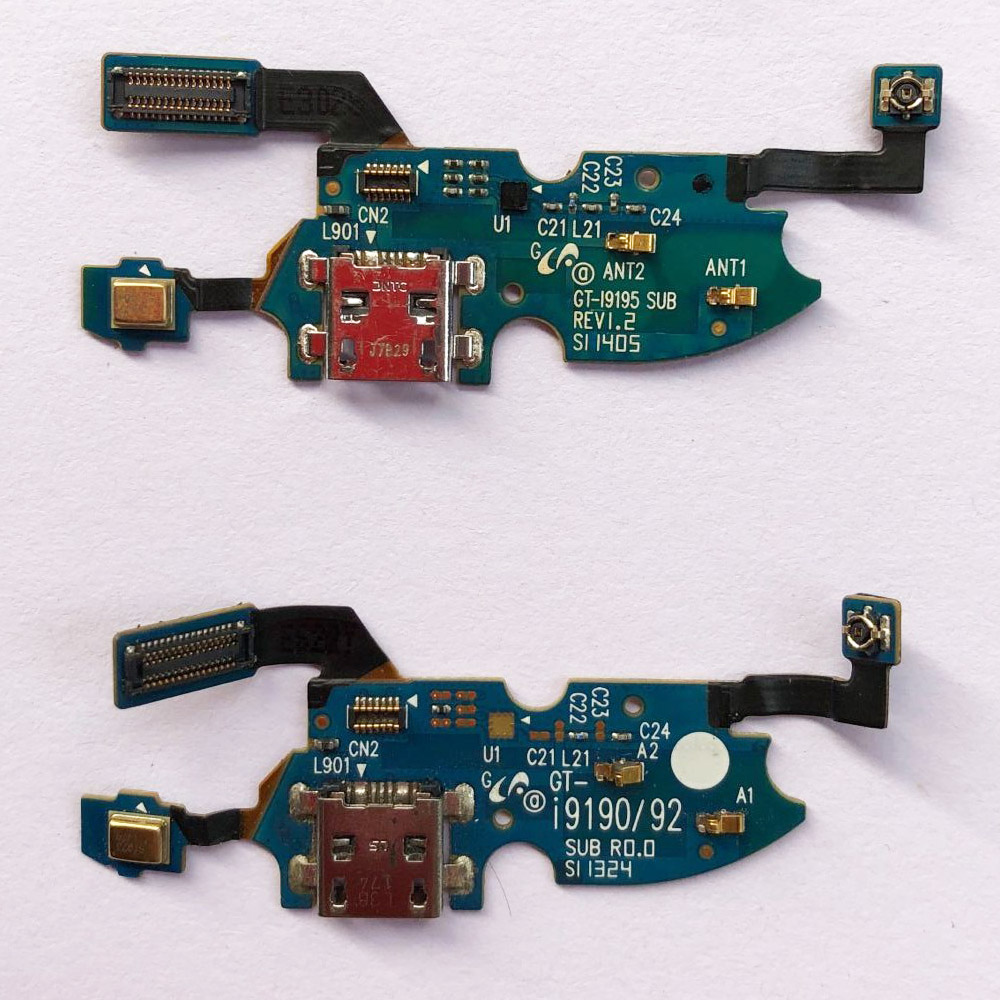 For Samsung Galaxy S4 Mini I9195 I9190 I9192 Charger Port Dock Charge Connector Flex Cable Audio Headphone Jack Repair Parts