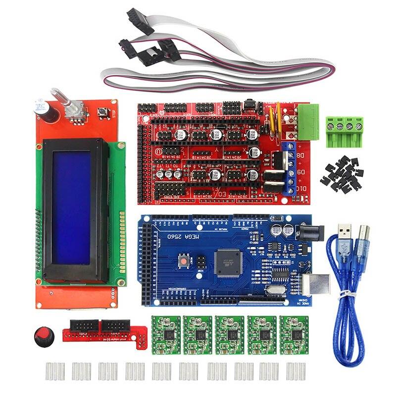 3D kits d'imprimante Rampes 1.4 Mega 2560 2004 écran lcd A4988 SD998