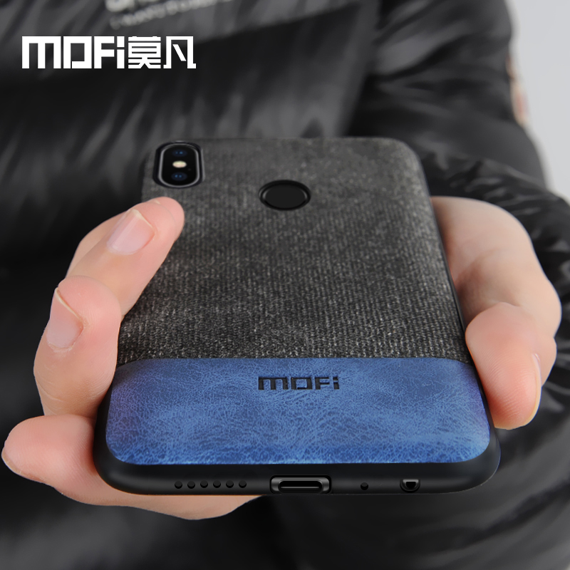 Xiaomi Redmi Note 5 cas couverture note5 Mondial Version couverture arrière silicone bord tissu cas coque MOFi Redmi note 5 pro cas