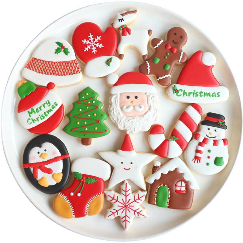 Christmas Cookies 2020 Transhome Christmas Cookie Cutters 10 Pcs Xmas Tree Star House