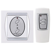 Mayitr 2 Way Channel ON OFF Lamp Light Remote Control Switch Digital Wireless Wall Switch For