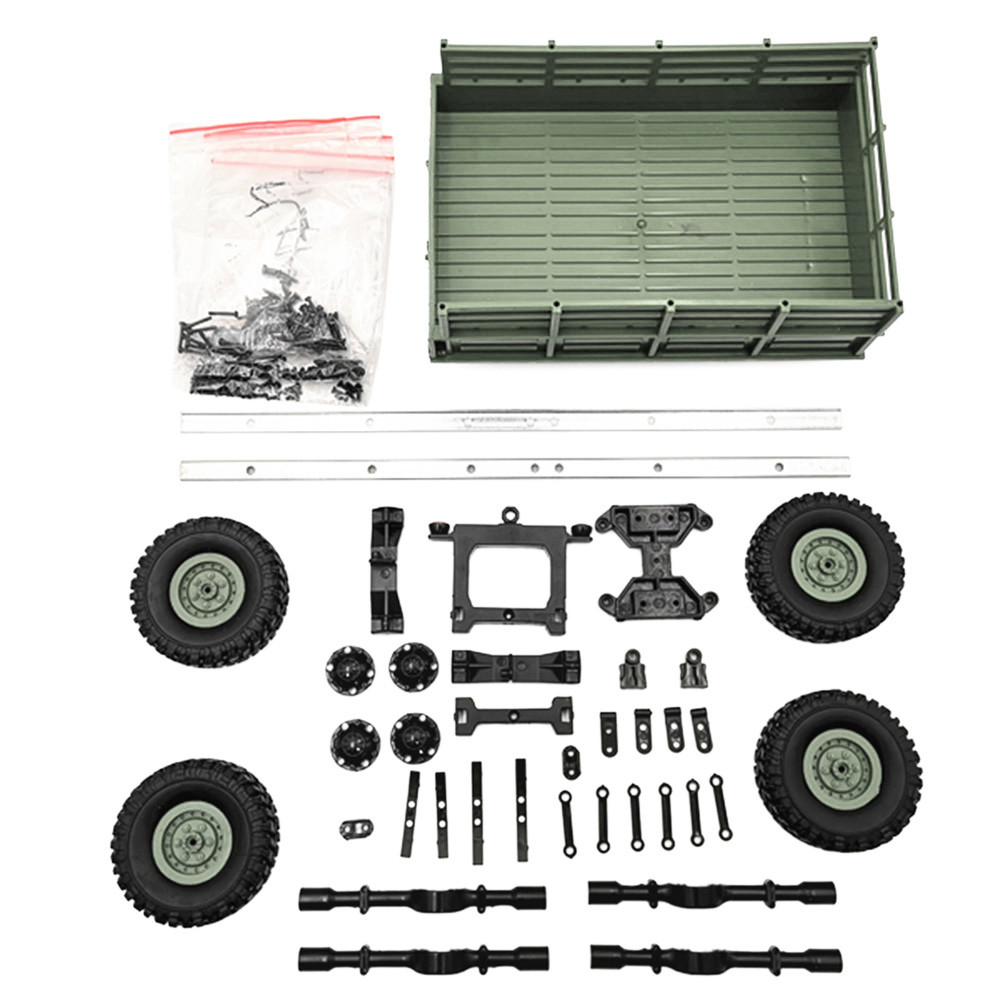 RC Car Parts for WPL Truck Remote Control Car Upgrade Trailer DIY Part Set Plastic Metal for WPL 1/16 Military Truck RC Car 2pcs set big remote control car rc excavator detachable kids electric big rc car trailer remote control wireless truck car toy