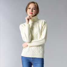 Women Long Sleeve Solid Winter Sweater Autumn Turtleneck Pullovers Lady Sweaters Basic Female Black Knit