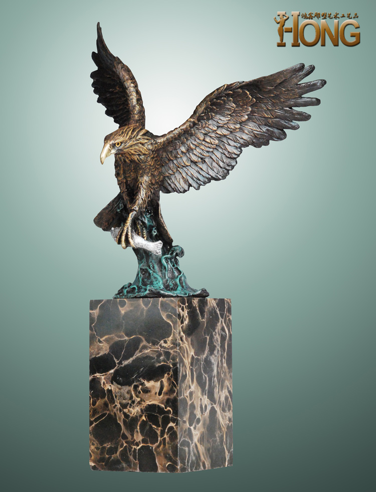 large # Original art # High-grade art office home shop bureau bronze Arabia Eagles decorative ART statue -2020 Business gift image
