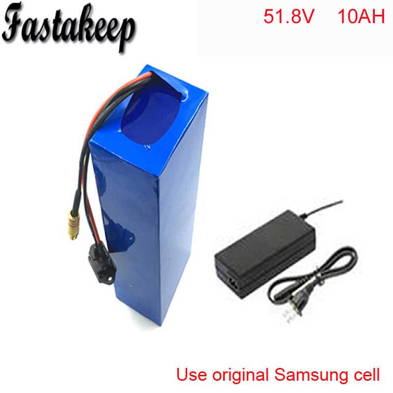 52V 10Ah E-Bike battery 14S 18650 li-ion 51.8V Battery pack for Electric Bicycle 48V 1000W 1200W Motor
