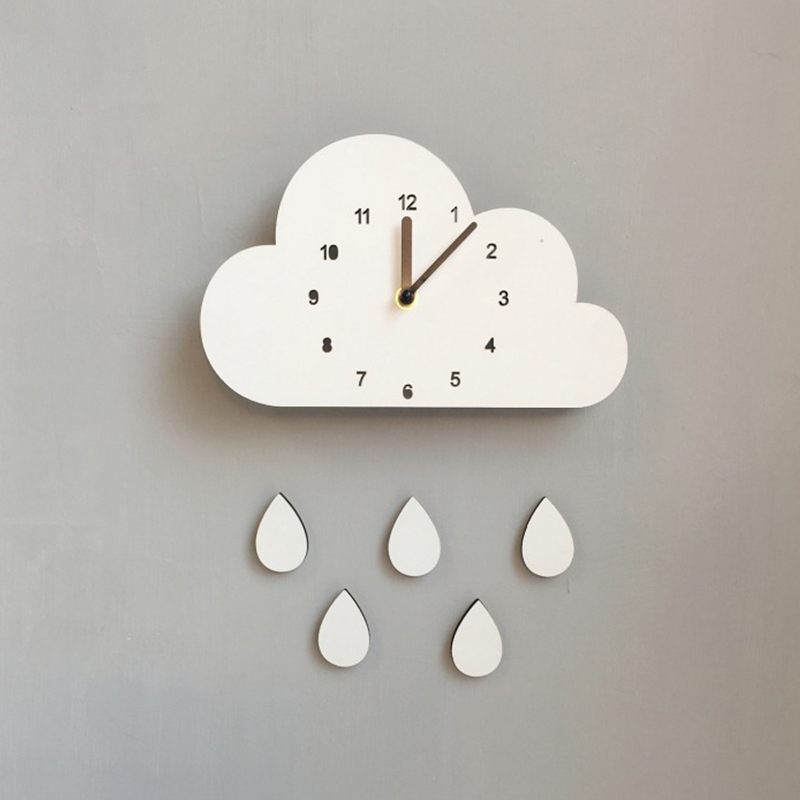 Nordic Style Nursery Clock Wooden Cloud Clock Wall Hanging Decoration Scandinaivan Style Wall Decor Nordic Style Kids Room DecorNordic Style Nursery Clock Wooden Cloud Clock Wall Hanging Decoration Scandinaivan Style Wall Decor Nordic Style Kids Room Decor