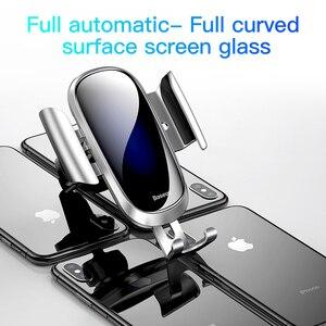 Image 2 - Baseus Giá Đỡ Điện Thoại Ô Tô Trọng Lực Gắn Cho Iphone X XS 11 8 Plus Samsung S9 S8 Đứng Không Khí đầu ra giá Đỡ điện thoại