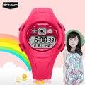 SANDA Waterproof Shock Resist Mens Sport Quartz Watch Led Digital 2 Zone Times Army Military S Shock Wristwatches With Gift Box