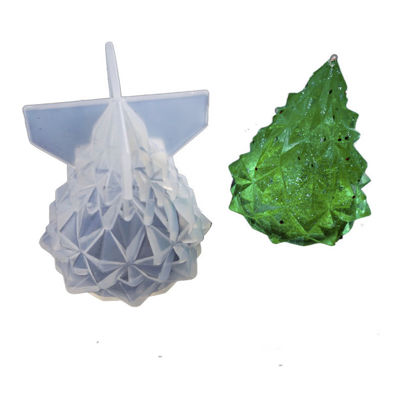 Christmas Tree Shape Silicone Mold DIY Handcraft Jewelry Making Molds Practical Ornaments Soap Candle Mould