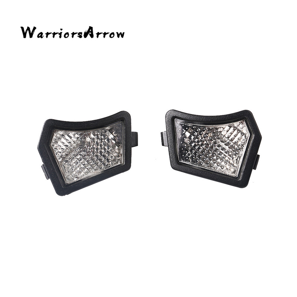 WarriorsArrow Pair Front Door Mirror Puddle Light courtesy Light Lamp Lens L R For <font><b>Volvo</b></font> S40 S60 S80 V50 V70 C30 <font><b>XC70</b></font> XC90 2005 image