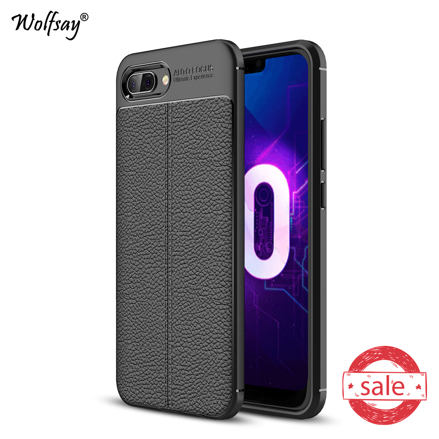 Phone Case Huawei Honor 10 Cover Honor10 COL-l29 Litchi Pattern Cases Soft TPU Case for Huawei Honor 10 Cover Huawei Honor 10