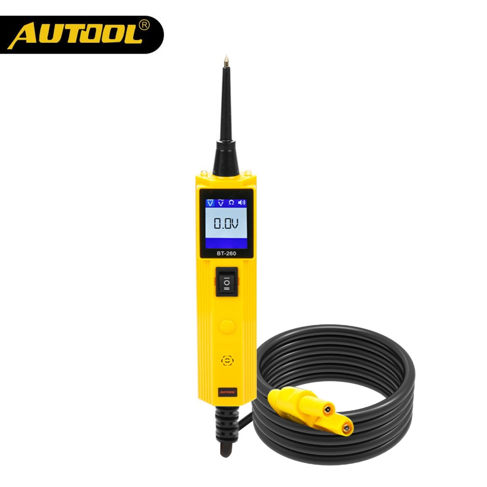 US $40 6 42% OFF|AUTOOL BT260 Car Circuit Tester Power Probe Automotive  Scanner Electrical Auto LED Display Voltage Digital Diagnostic Tools-in
