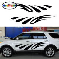 HotMeiNi 2X 200cm*40 Heavy Rain Flames Leapt Constant Struggle Struggle Ahead Art Car Stickers for Smooth Surface Vinyl Decal