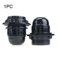 E27 домашний аксессуар подвесная розетка прочная база черный бакелит фитинги самоблокирующийся светильник винт для лампочки лампа держатель ES период стиль