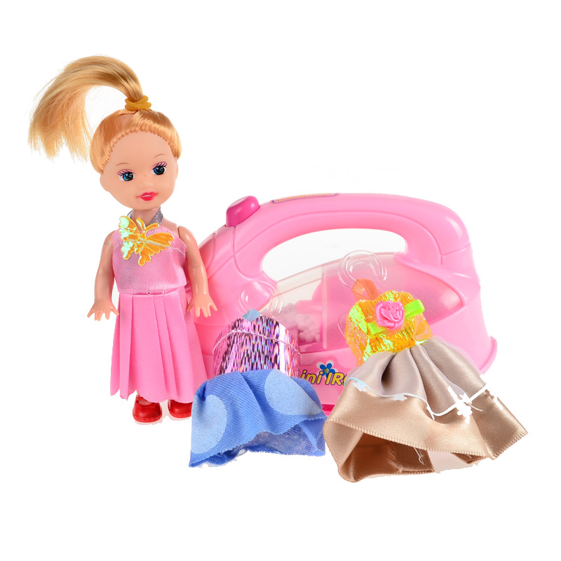 Dress Up Pretend Play Images On: 1Set=4pcs, BOHS Kids Change Clothes Doll Iron Tailor Dress