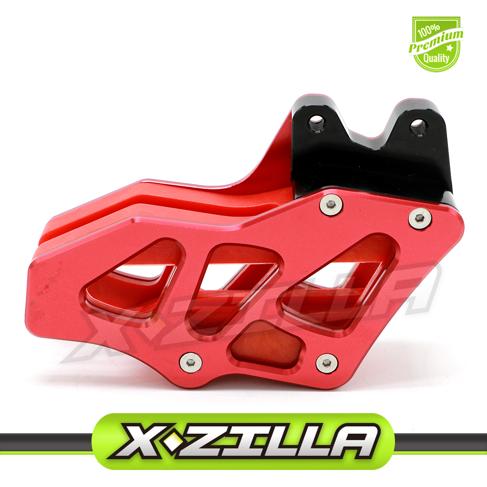 CNC Alloy Chain Guard Guide for Honda CRF 230 CRF230 CRF30F CRF 230F CRF 150F CRF150F Motocross Dirt Bike Parts Accessories for honda crf 250r 450r 2004 2006 crf 250x 450x 2004 2015 red motorcycle dirt bike off road cnc pivot brake clutch lever