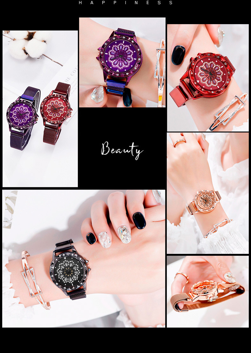 360-degree-rotation-Women-Watch-Mesh-Magnet-Starry-Sky-Ladies-Watch-Luxury-Fashion-Geometric-Quartz-Watch 6