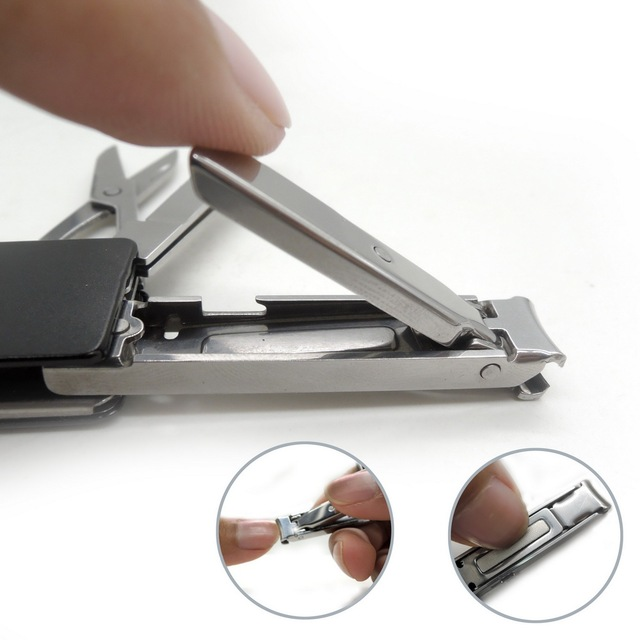 Mini Fashion Key-chain Swiss Knife LED Ear Cleaner Nail Clippers Pocket Key Ring earpick Portable Key Fold Multi Functional