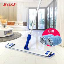 Wholesale East Adhesive Mop Aluminium Alloy Plate Flat Mop Floor Cleaning Microfiber Cloth Can Clip Towel for Home Cleaning