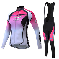 OG EVKIN Cycling Set Women Winter Thin Long Sleeves Cycling Jersey Ropa Maillot Ciclismo Bicycle Bike